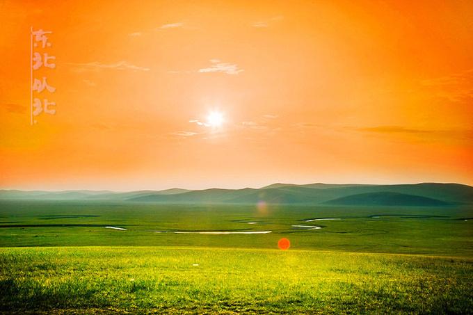 羊村日落图片