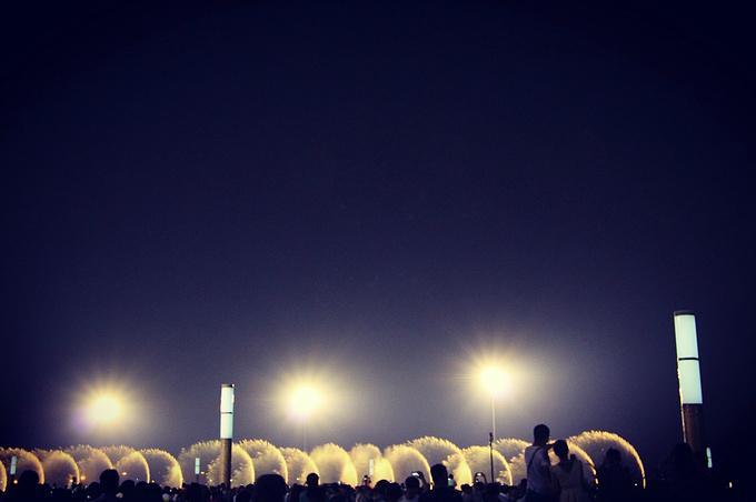 东港音乐喷泉广场图片