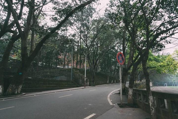 """""""重大中门 虽然这个门非常小很不起眼但它却是4年里走的最多的门门口的沁园还在 以前最爱吃沁园的布丁_重庆大学""""的评论图片"""