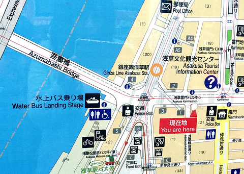 东京水上巴士旅游景点攻略图