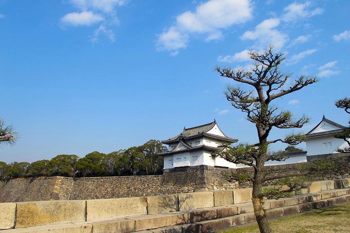 """""""在天守阁上俯视大阪全景,东西南北四个方向..._天守阁""""的评论图片"""