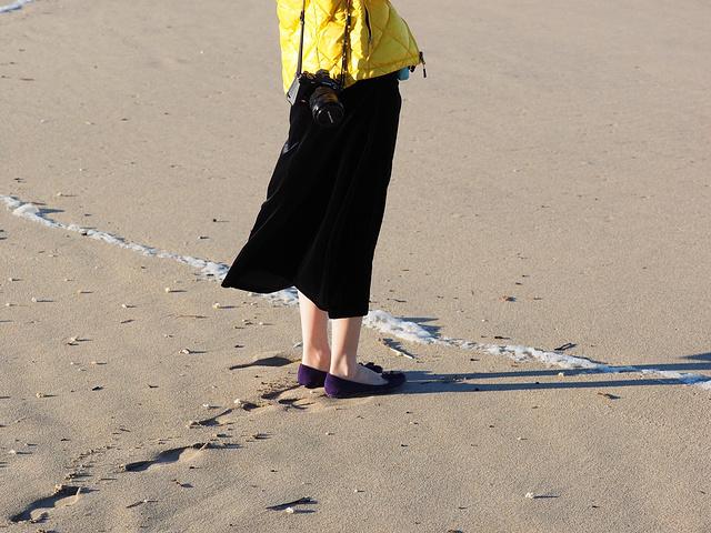 """""""整个海湾非常宁静,只有海浪声,哗啦啦的拍打着沙滩。我真的没有在说鬼故事,哈哈哈_半月湾""""的评论图片"""