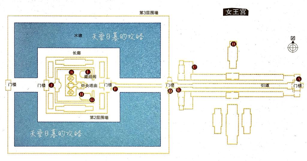 女王宫旅游导图