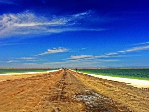 察尔汗盐湖的图片