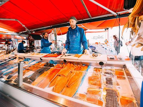 卑尔根鱼市旅游景点图片