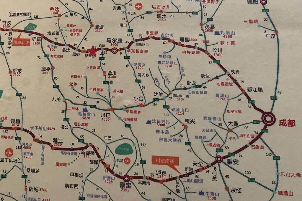 桃坪羌寨旅游导图