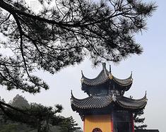 九华楼台烟雨中,山寺桃花始盛开——清明节游九华山