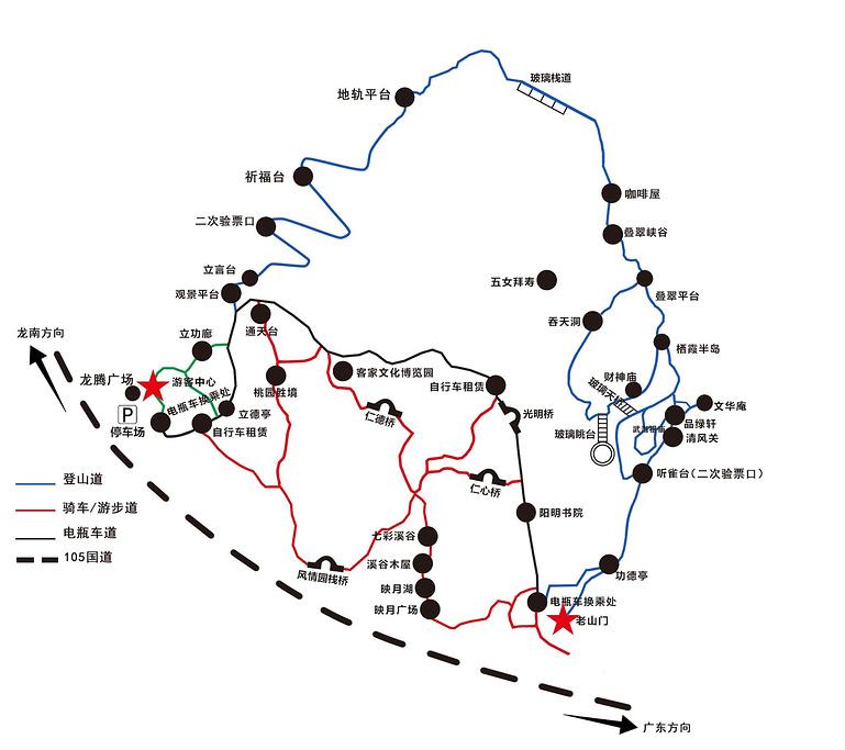 南武当山景区旅游导图