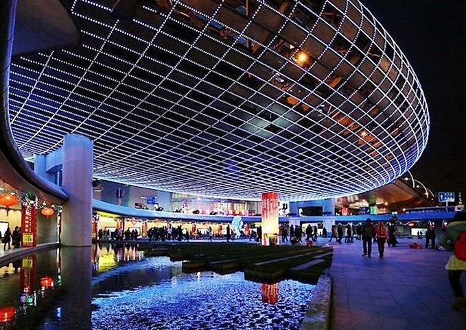 五角场商业区图片