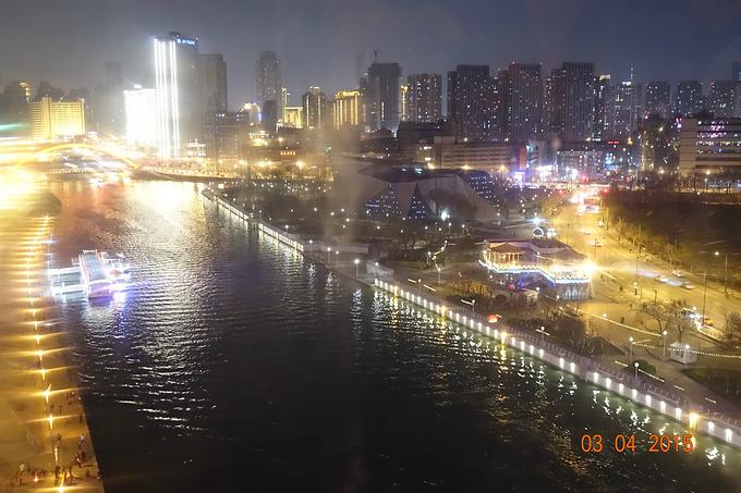 天津之眼摩天轮图片