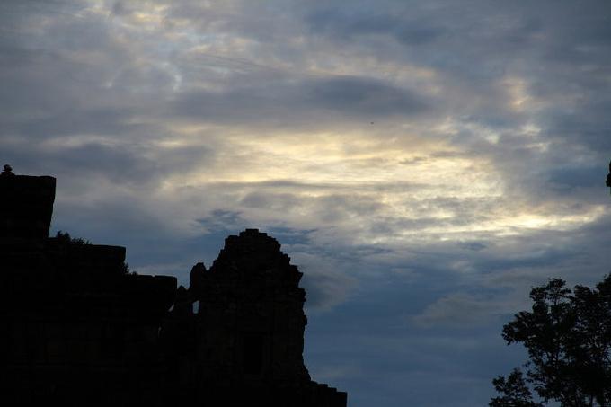 比利寺的吴哥日落图片