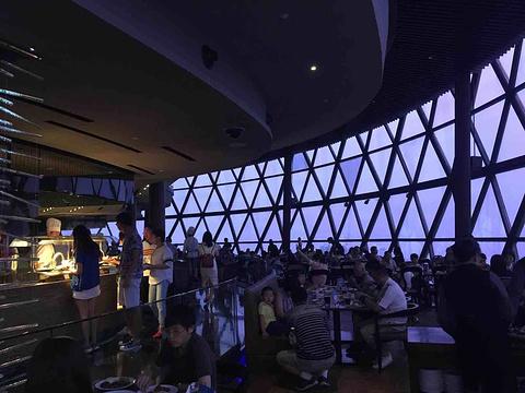 东方明珠空中旋转餐厅旅游景点攻略图