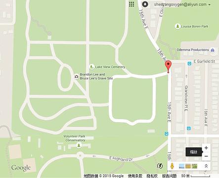 李小龙墓旅游景点攻略图