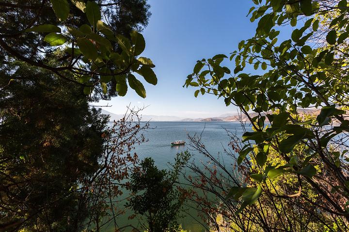 """""""南诏风情岛门票应该是50元,含船费,我觉得非常有必要去玩,人很少风景和植被都不错。自拍两张照片_南诏风情岛""""的评论图片"""