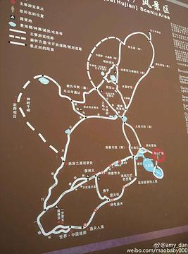 北京后花园(白虎涧)风景区旅游景点攻略图