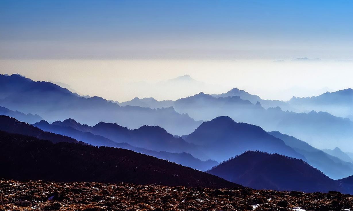 冬日踏雪秦岭第二峰—鳌山