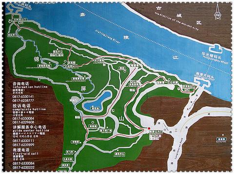 锦屏山风景区旅游景点攻略图