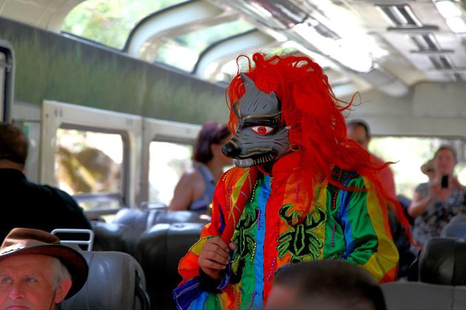 火车上的风景图片