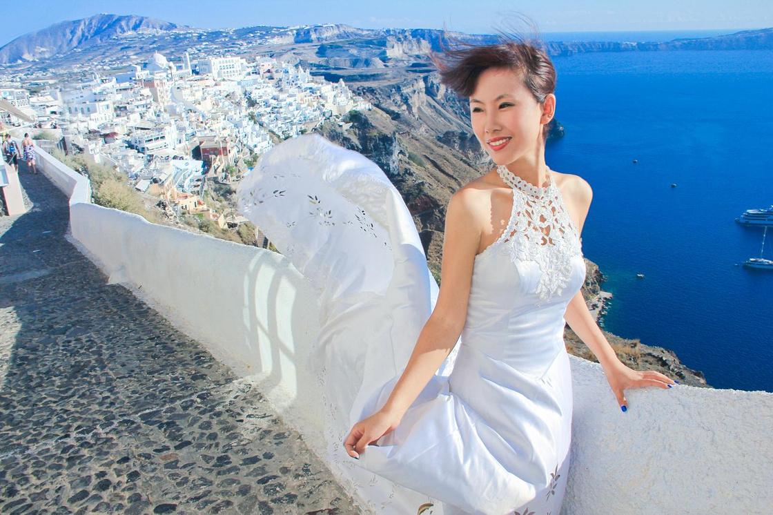 #浪不完的夏天#旅拍婚纱:爱在圣托里尼