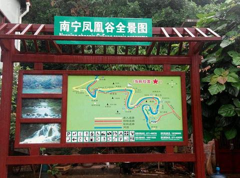 凤凰谷景区旅游景点攻略图