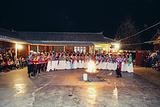 摩梭族篝火晚会