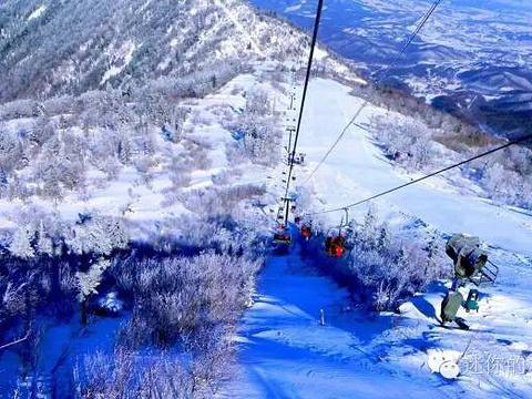 亚布力观光缆车及世界第一滑道旅游景点图片