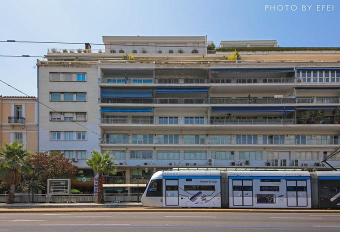 雅典市区的各种车图片