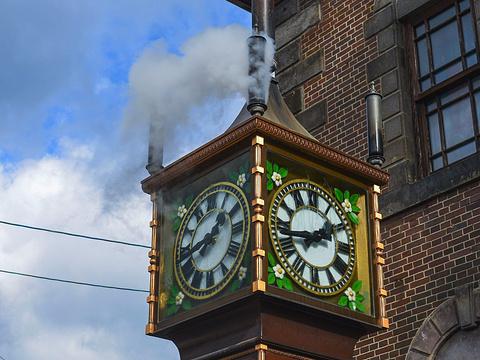 蒸汽钟旅游景点图片