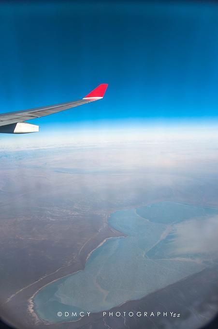 飞机上的景色图片