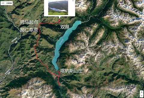 双湖旅游景点攻略图