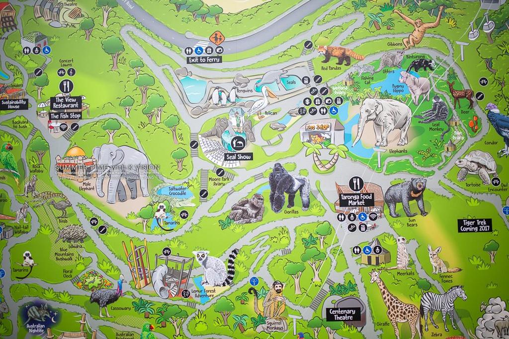 塔龙加动物园旅游导图