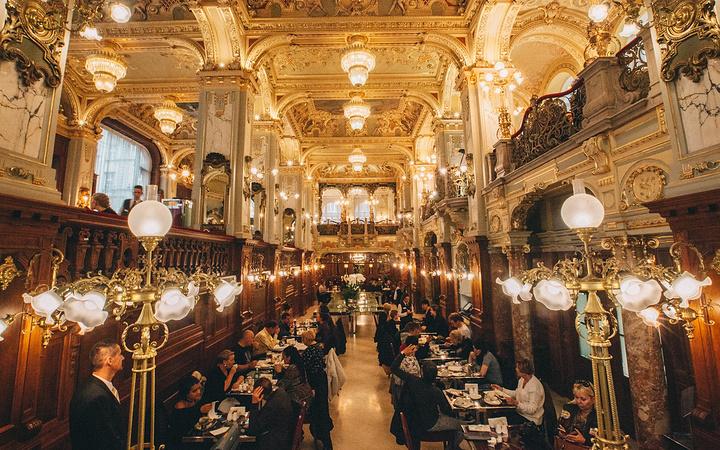 """""""...了午餐,不过食物味道实在是乏善可陈,价格也不便宜,如果只是想感受一下这里的氛围,点杯咖啡就够了_纽约宫咖啡厅""""的评论图片"""