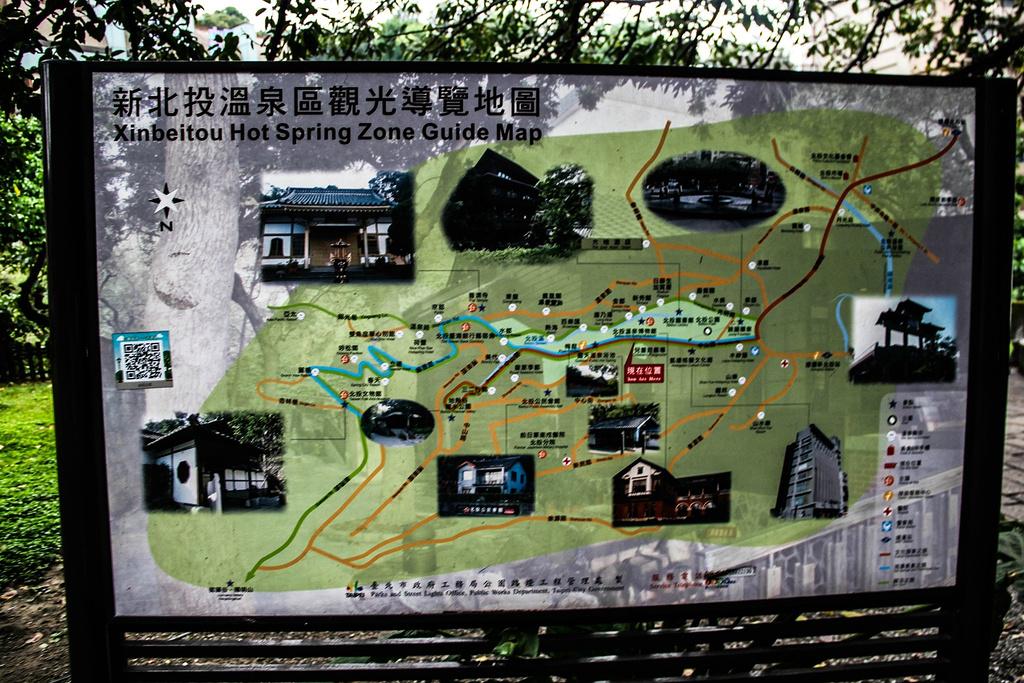 地热谷旅游导图