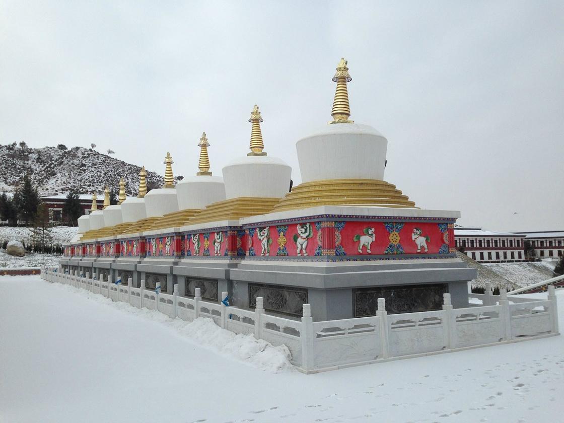 雪中的福因寺,虽然不是很有名,却很美!