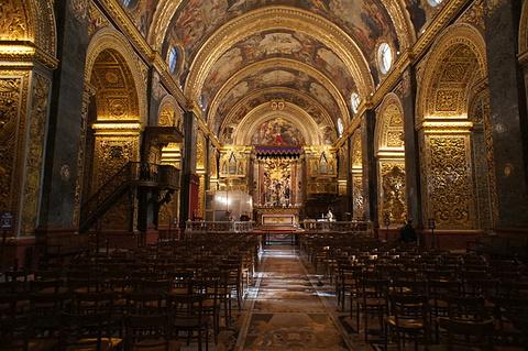 瓦莱塔圣约翰大教堂旅游景点攻略图