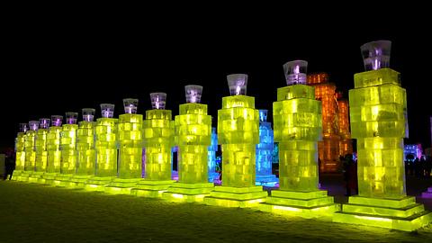 哈尔滨冰雪大世界旅游景点攻略图