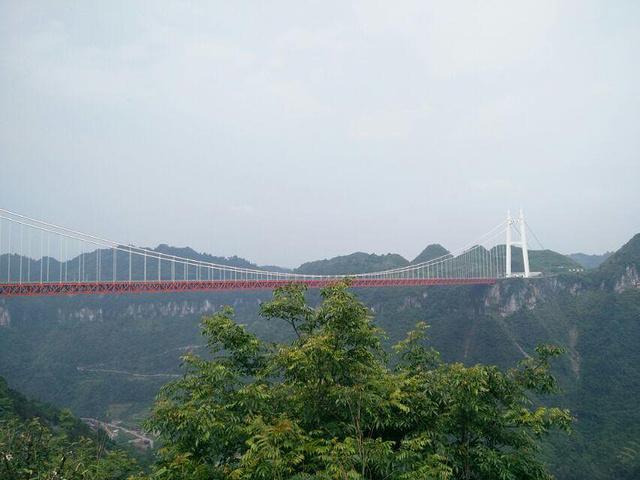 """""""就像仙境一般。再加上群山在云雾之中,站在桥上有宛如在仙境一样。NO2、周边风景。先具体说说,一、门票_矮寨大桥""""的评论图片"""