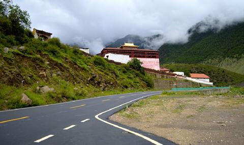 贡嘎郎吉岭寺旅游景点攻略图