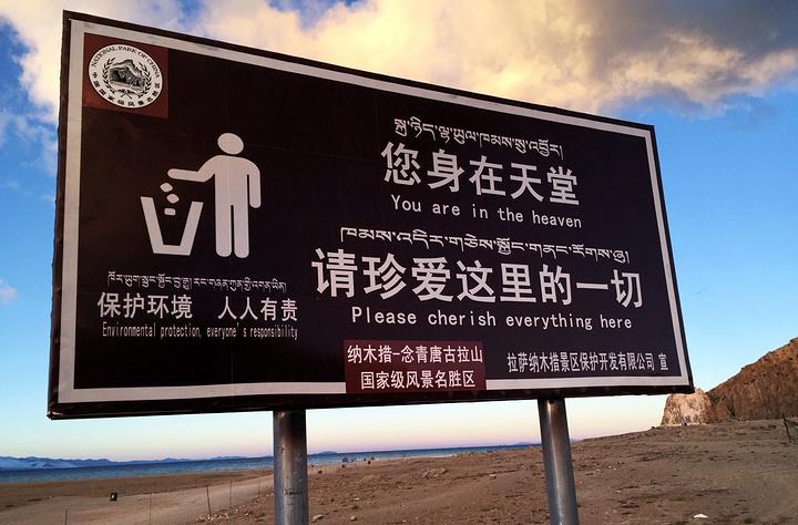 """""""...一路上都能看见很多朝圣的人,不过多数为藏民,他们一步一拜,有老人也有小孩,用身体丈量这朝圣之路_玛旁雍错""""的评论图片"""