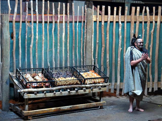 """""""罗托鲁阿的毛利文化是让你真实体验过去毛利人的生活_塔玛基毛利村寨""""的评论图片"""