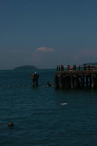 """""""码头这里也有很多商铺,可以购买墨镜、潜水镜、泳衣等用品,还有一些食铺,有不少游客也在此用餐_哲斯顿港码头""""的评论图片"""