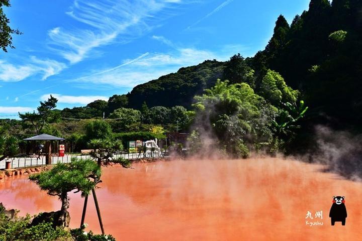 """""""这里是日本最古老的景观地狱温泉_血池地狱 """"的评论图片"""