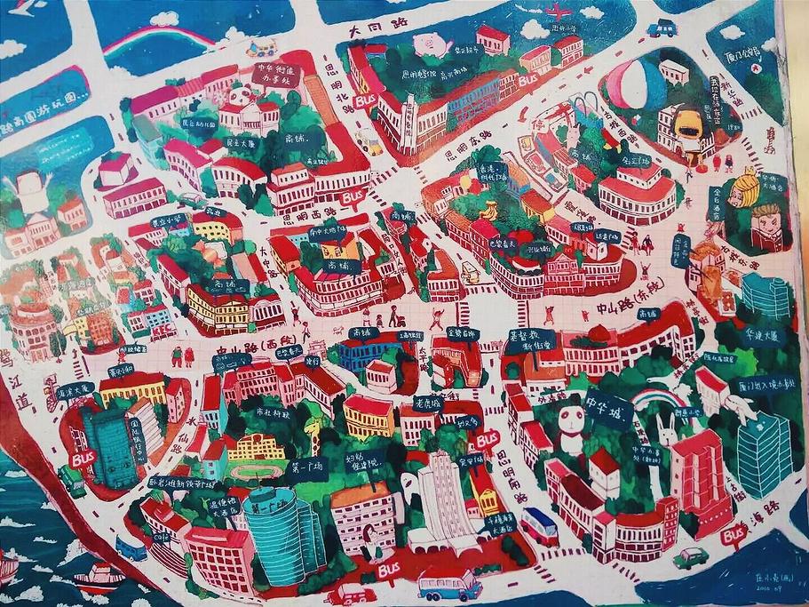 中山路步行街旅游导图