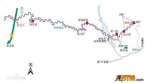 古北口长城旅游景点攻略图