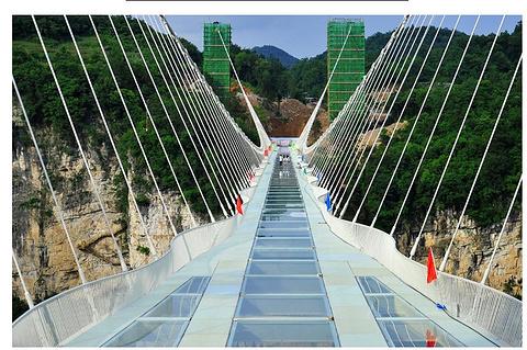 玻璃桥旅游景点攻略图