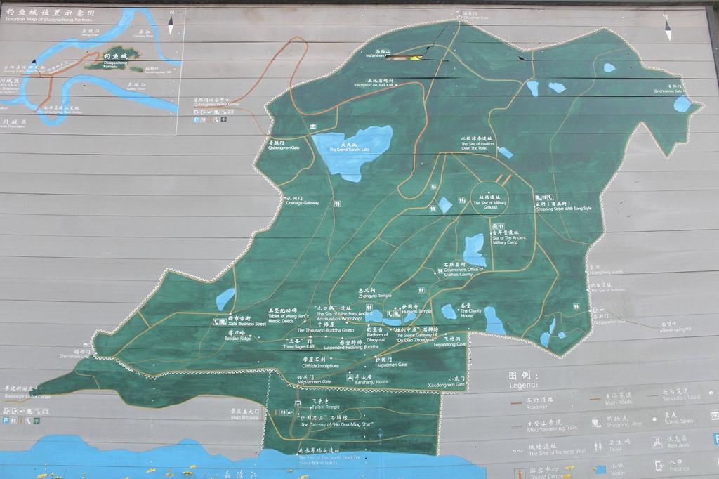 钓鱼城旅游导图