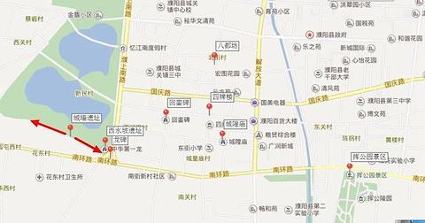 西水坡遗址旅游景点攻略图