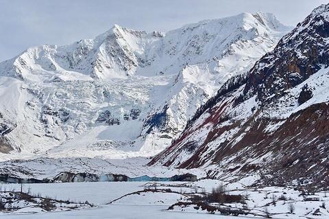 米堆冰川的图片