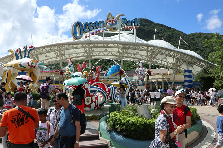 香港海洋公园导游图_20214、海洋公园的游乐项目、万圣节期间晚上的活动非常刺激,更 ...