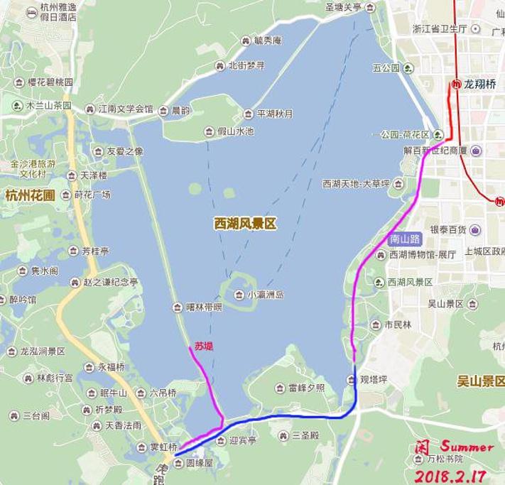 西湖旅游导图